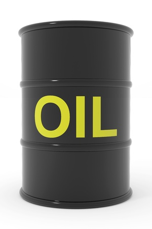 gas cylinder: Oil barrel. Computer generated image. Stock Photo