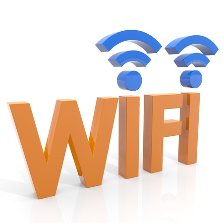 Wifi concept. Computer generated image.