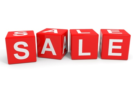 SALE red cubes  Computer generated image  Stock Photo - 13024128
