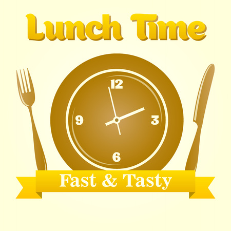 Vector lunch time illustration