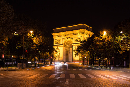 france: The Triumphal Arch is tne most visited monument in french capital. Stock Photo