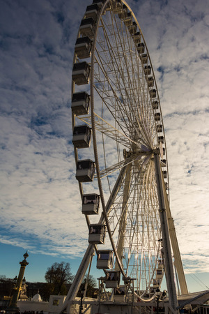 big wheel: The big wheel on the place de la Concorde,Paris, France.