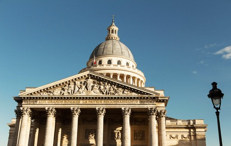 secular: The Pantheon is a secular mausoleum containing the remains of distinguished French citizens.Located in the 5th arrondissement on the Mountain of Saint Genevieve, it looks out over all of Paris.