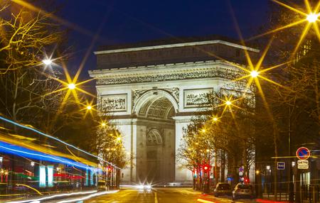 The Triumphal Arch in evening, Paris.