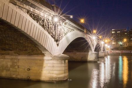 austerlitz: The Austerlitz bridge at night Paris, France