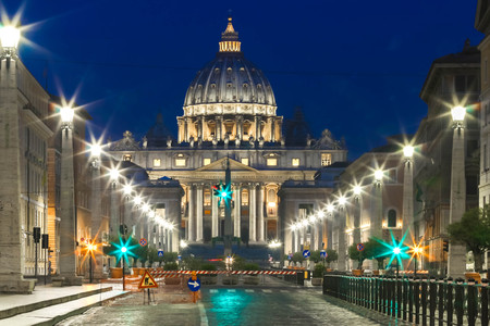view on St Peter Basilica , Vatican, Italy Stock Photo