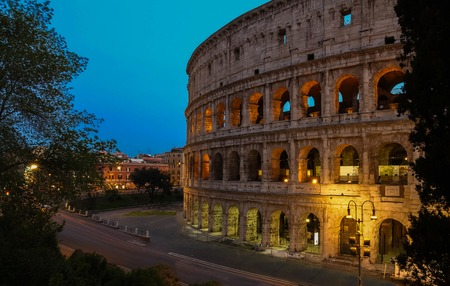 archaeologies: The famous Colosseum in Rome, Italy. Stock Photo