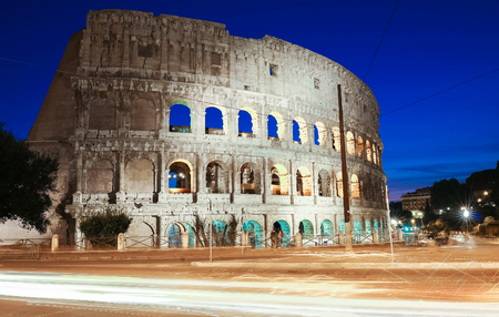 The famous Colosseum in Rome, Italy. Stock Photo