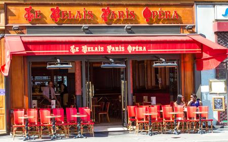 Paris, France-july 9 ,2016 : The traditional Parisian cafe Le Relais Paris opera located near Opera Palace of Paris.