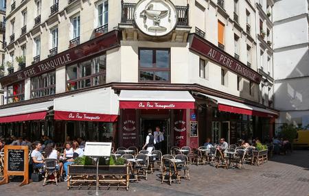 The famous restaurant Au pere tranquille, Paris, France.