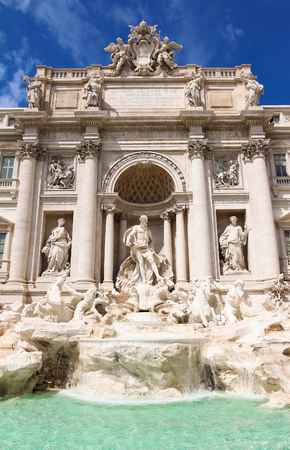 The famous de Trevi Fountain, Rome, Italy. Stock Photo