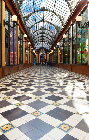 The Interior of Passage des Princes , Paris, France.