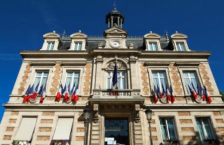 Maisons Laffitte 마의 시청, 프랑스 파리 근처.