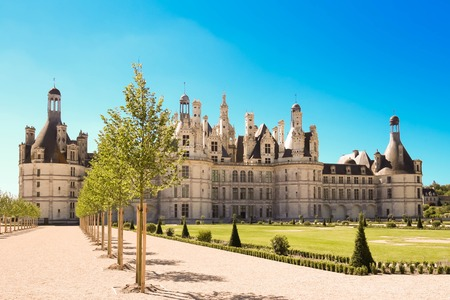 The castle Chambord in the Loire Valley (France). Built in 1519-1547.