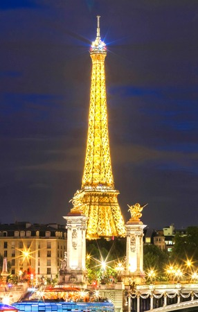 The Eiffel Tower Light Performance Show ,Paris, France.