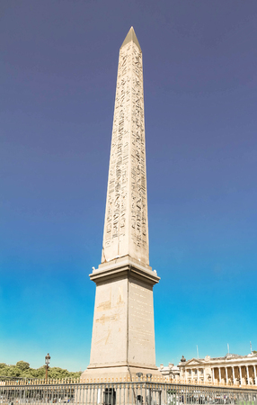 The Luxor obelisk at Place de la Concorde in Paris, France. Stock Photo
