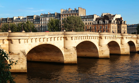The Pont Neuf (New Bridge) and Seine river, Paris, France. Stock Photo