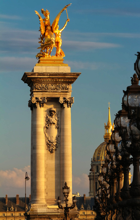 The famous Alexandre III bridge , Paris, France.