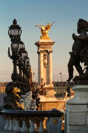 cherubs: Alexandre III bridge in Paris, France Stock Photo