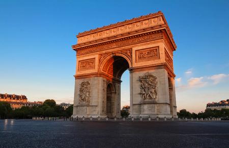 champs elysees: The famous Triumphal Arch , Paris, France.