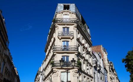 The facade of Parisian building