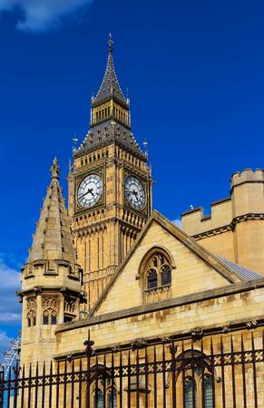 The Big Ben clock tower in London, UK.