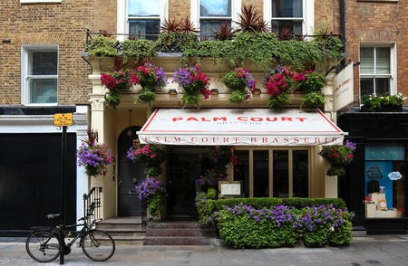 The exterior of Palm Court brasserie in Covent Garden ,London, United Kingdom.