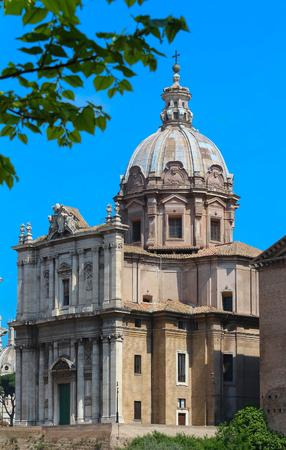 The famous church of Santa Maria di Loreto, Rome.