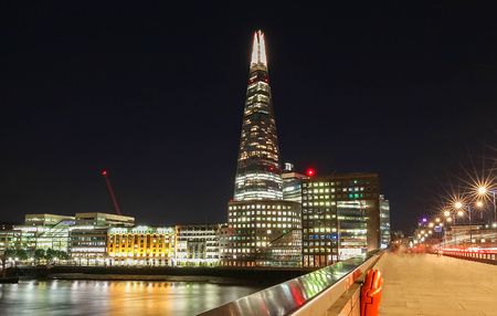 habitable: London, United Kingdom-August 10, 2017: The view of Shard, a 95-storey skyscraper in Southwark, London.It is the glass clad pyramidal tower with 72 habitable floors.