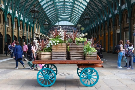 The View of Covent Garden market in London.