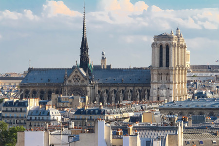 The Notre Dame Cathedral , Paris, France. Stock Photo