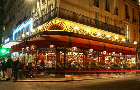Paris, France-October 25, 2017: The traditional French cafe Danton located on Saint-Germain boulevard .