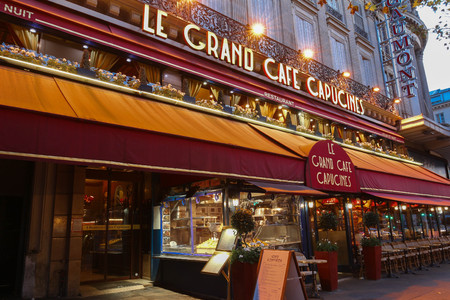 Paris, France-November 01,2017 : Le Grand Caf  Capucines Is The ...
