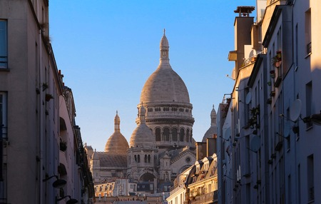 The basilica Sacre Coeur, Paris, France.