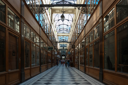 The Grand Cerf passage is one of the largest covered arcades in Paris.
