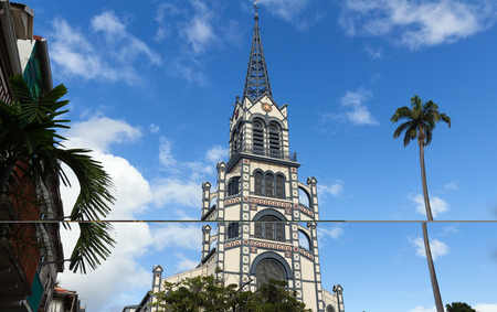 Cathédrale Saint-Louis, ville de Fort de France, île de la Martinique.