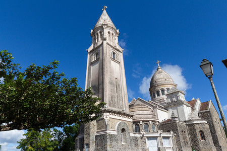 The Balata cathedral, Martinique island, French West Indies.