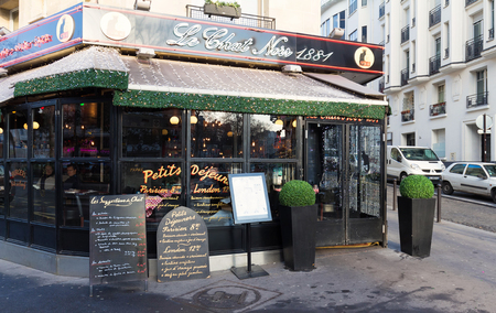 The Chat Noir is historical bistro located in Montmatre area of Paris, France.