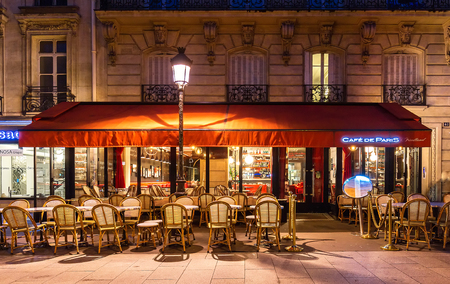 The traditional French cafe de Paris located Friedland avenue in Paris, France.