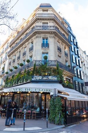 The famous cafe De Flore , Paris, France.