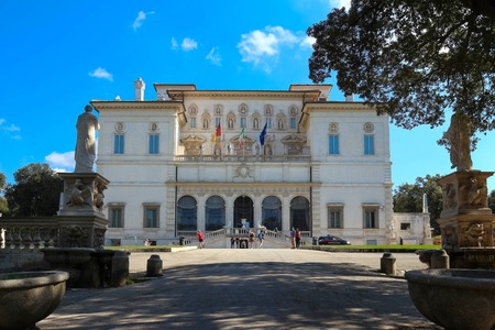 View at Galleria Borghese in Villa Borghese, Rome, Italy . Editorial