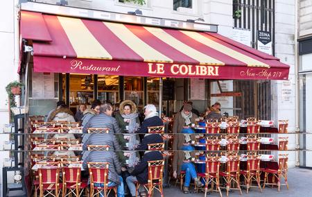 The typical Parisian restaurant Le Colibri, Paris, France. Editorial