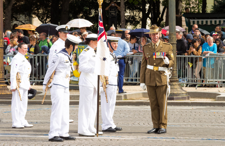 The Australian army participate in Bastille Day military parade,