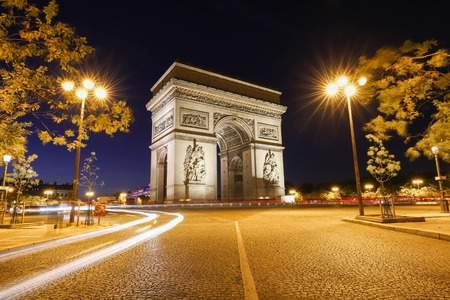 The Triumphal Arch is one of the most famous monuments in Paris. It honors those who fought and died for France. Reklamní fotografie