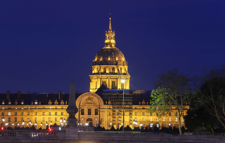Saint-Louis-des-Invalides Church houses the graves of the governors of the Invalides, and also many Marshals of France and commanding officers' graves, Paris, France. Stock Photo