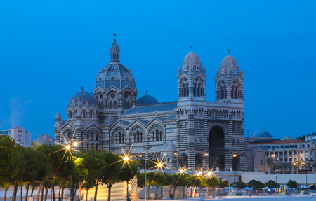 General view of the cathedral of Marseille, Sainte-Marie-Majeure, also known as La Major. 写真素材