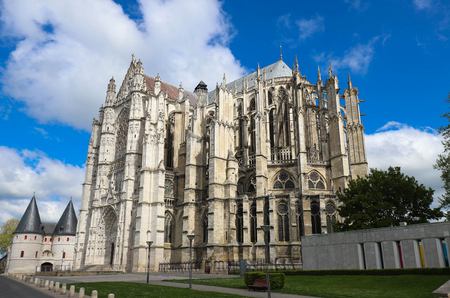 Cathedral of Saint Peter of Beauvais Oise department, Picardy, France Banco de Imagens