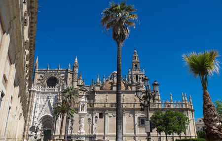 View of Seville Cathedral with the Giralda in the background Фото со стока - 124985686