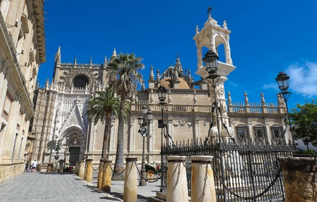 View of Seville Cathedral with the Giralda in the background Фото со стока - 124985693