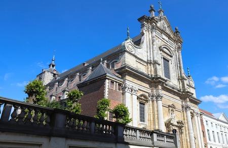 Gothic church of Saint Xaverius in picturesque Flemish town Bruges, Belgium.